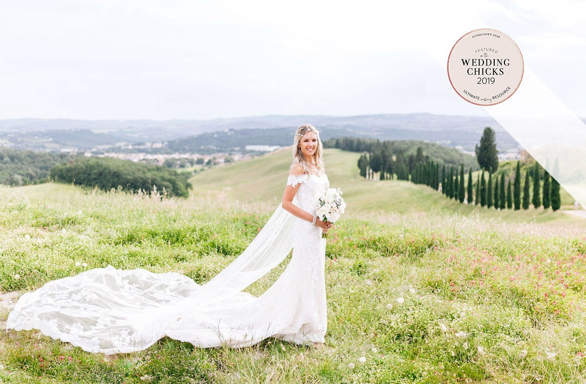 Destination wedding in Tuscany in an ancient burg near Florence