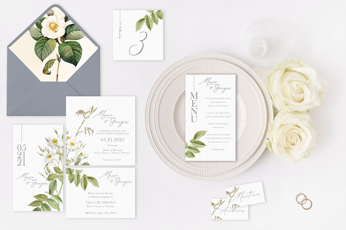 A gorgeous design for a romantic invitation and stationery