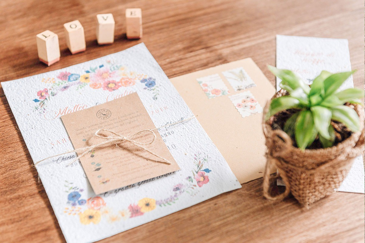 A wonderful idea for an eco invitation and stationery