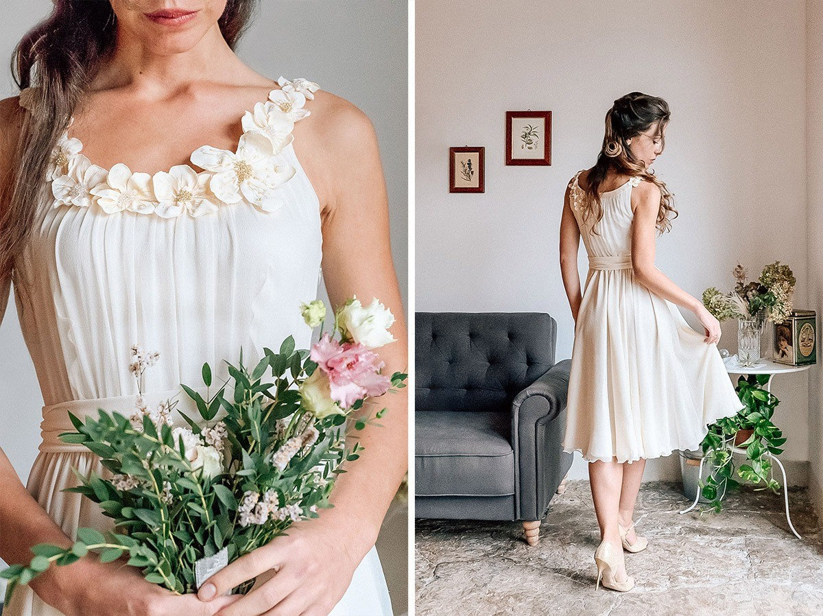 A wonderful and sustainable wedding gown for your eco wedding