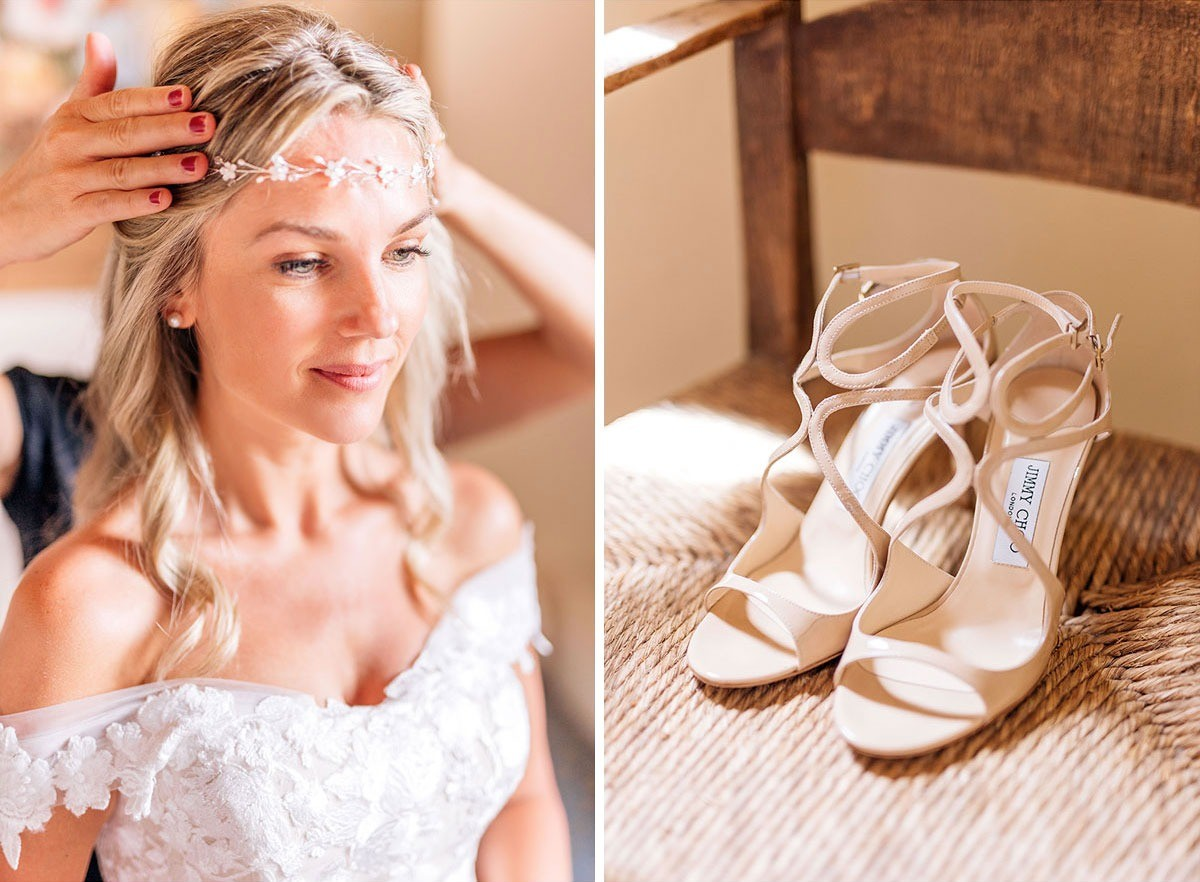 Bride's getting ready in Tuscany