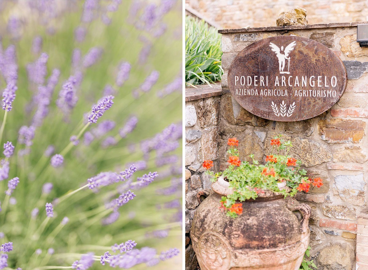Details in Poderi Arcangelo, wedding venue near Florence