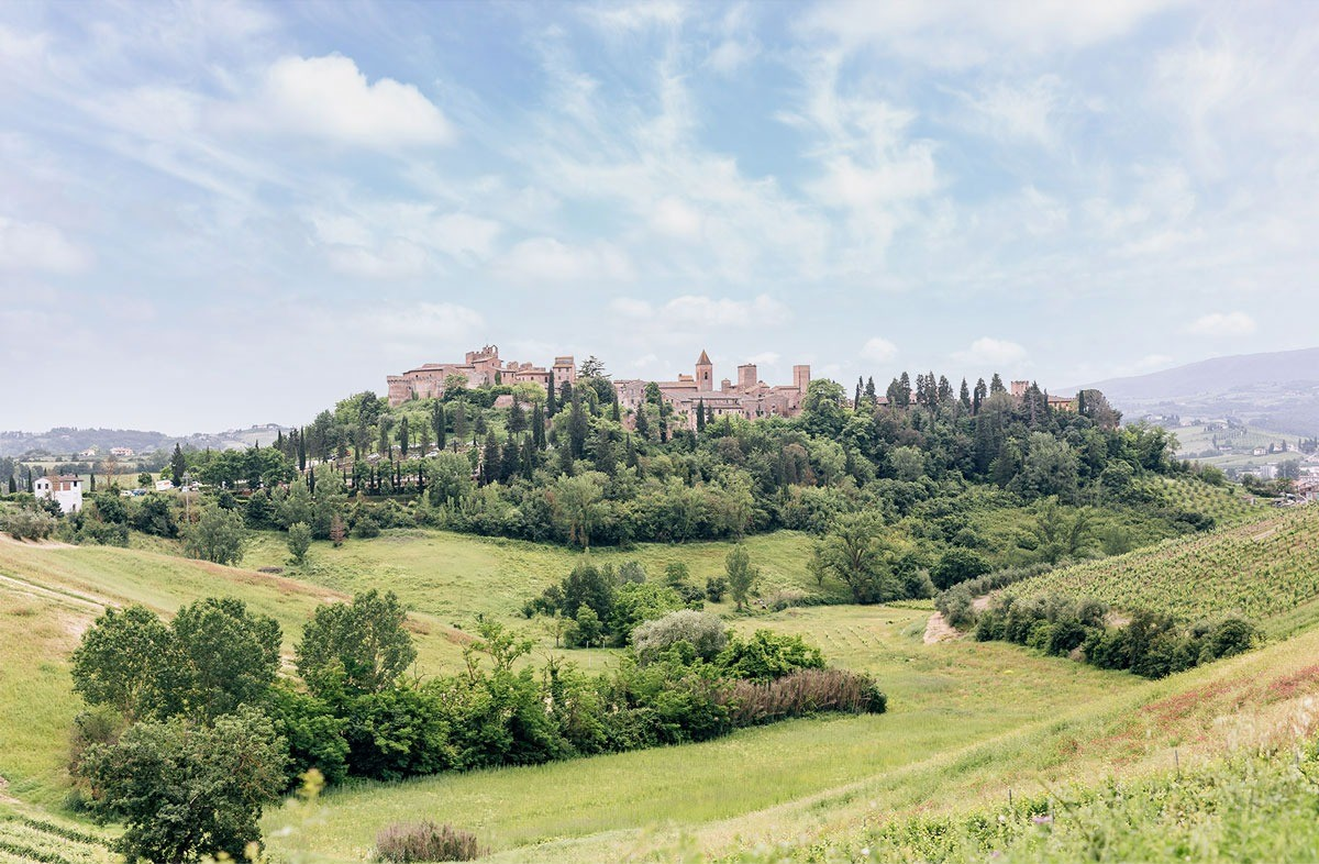 Stunning medieval burg near Florence in Tuscany