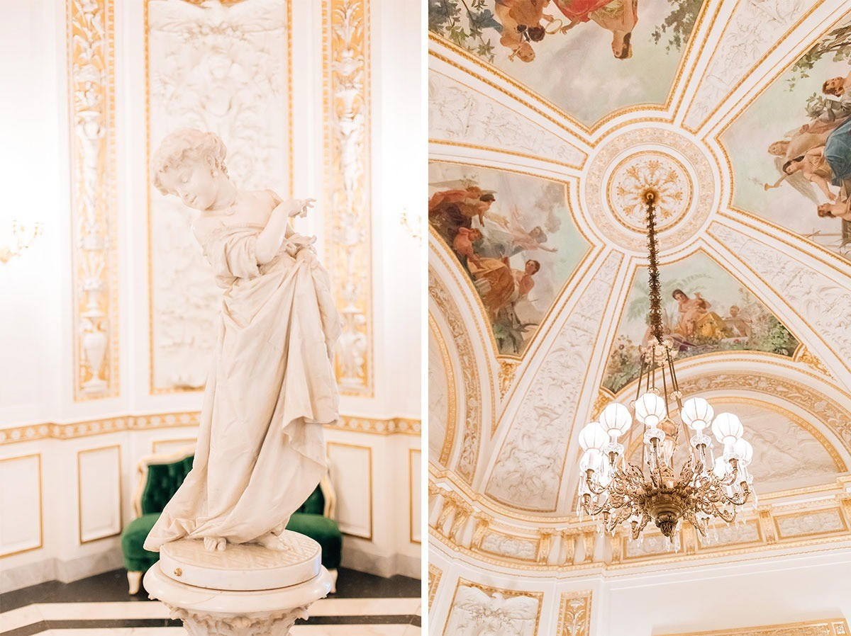 Details of the beautiful wedding venue Villa Cora in Florence