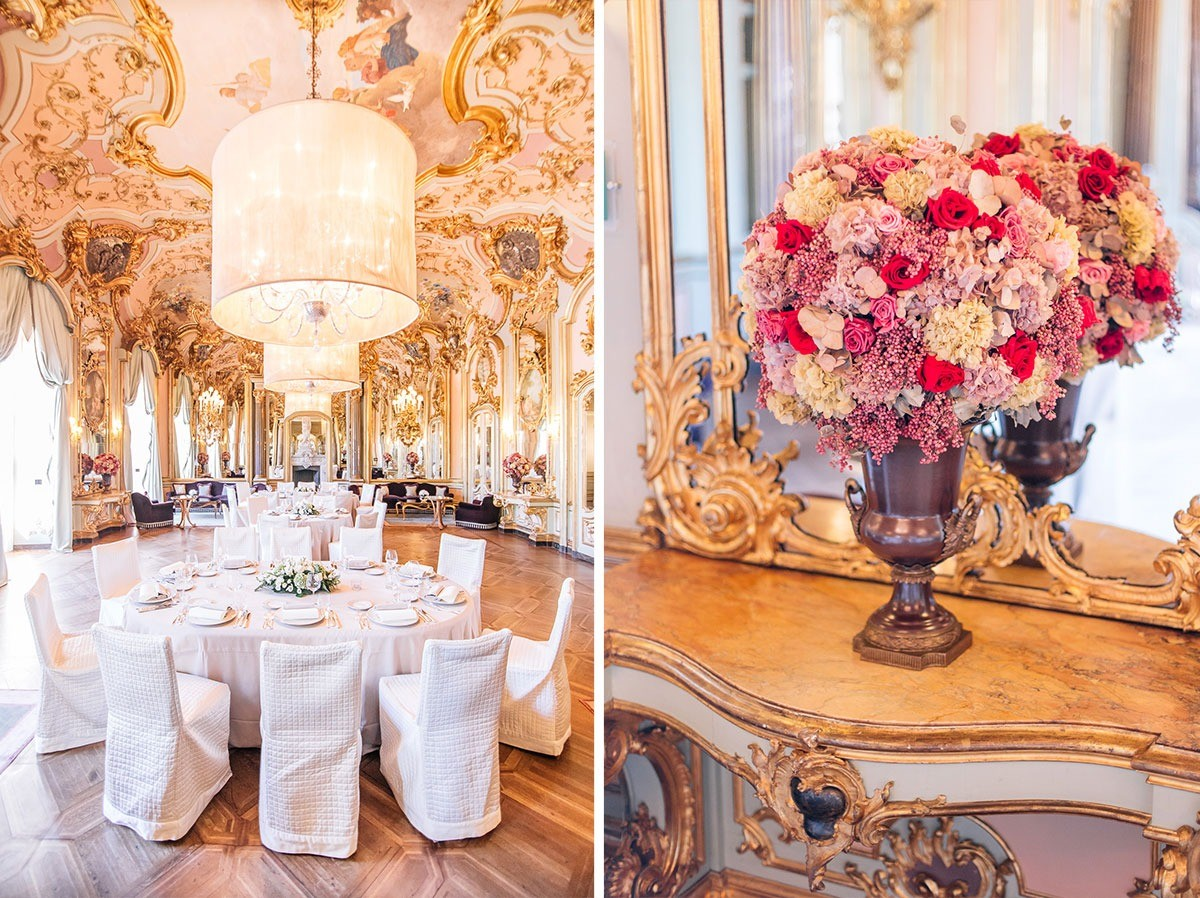 Wedding reception in Villa Cora, Florence
