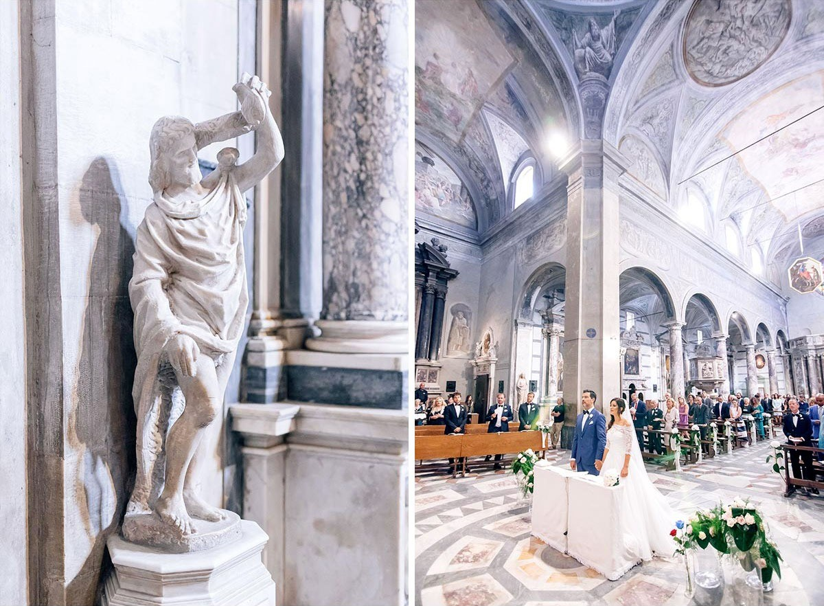 Details of the religious ceremony in Basilica di Pietrasanta in Lucca
