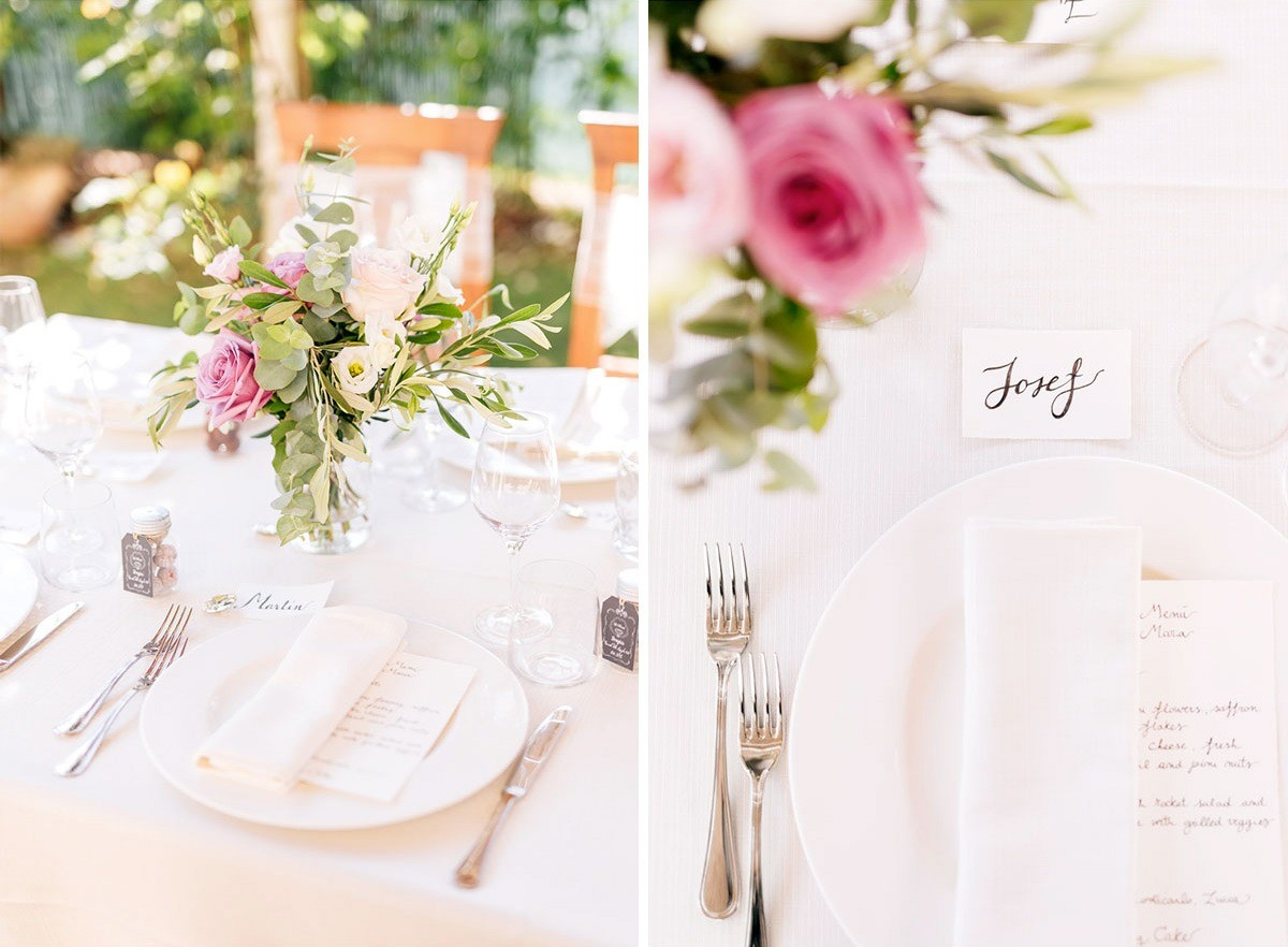Calligraphy placeholder for a rustic romantic wedding in Tuscany
