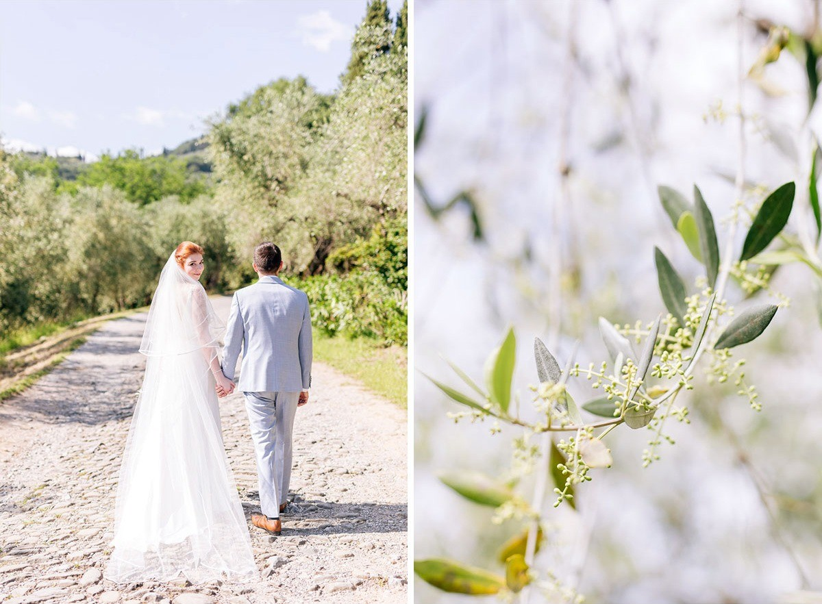 Romantic wedding couple in Lucca, Tuscany