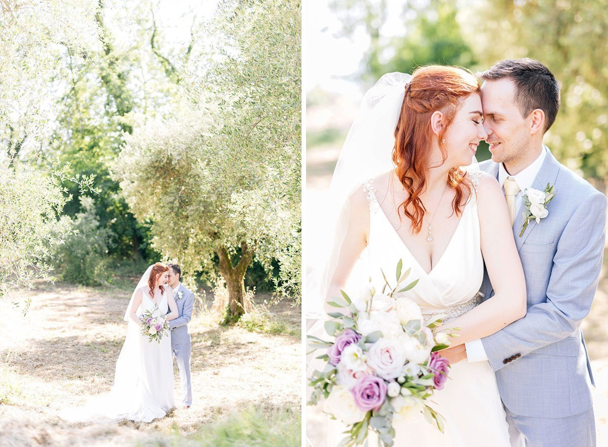Romantic wedding portraits for a symbolic wedding in Lucca