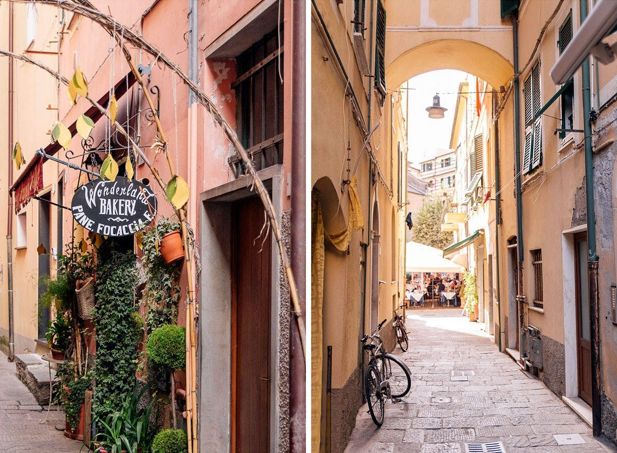 Streets and little shops of Monterosso al Mare