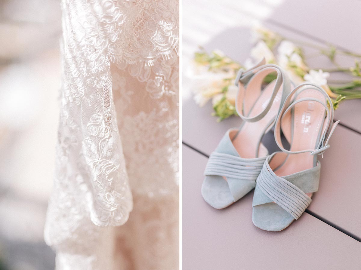 Bridal shoes in Vernazza