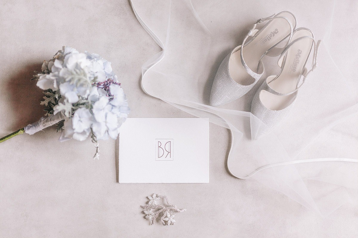 Details of the bride and the wedding stationery