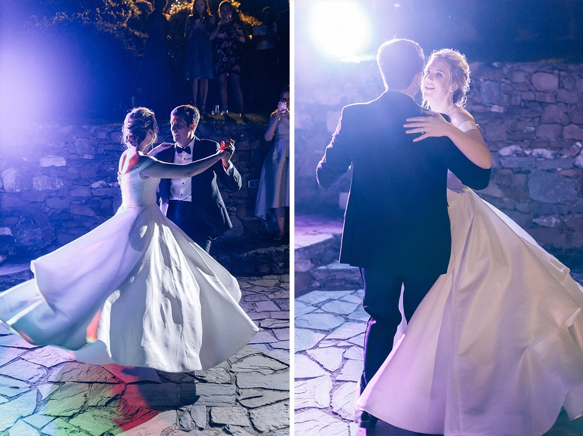 First dance of the bride and groom in monterosso al mare