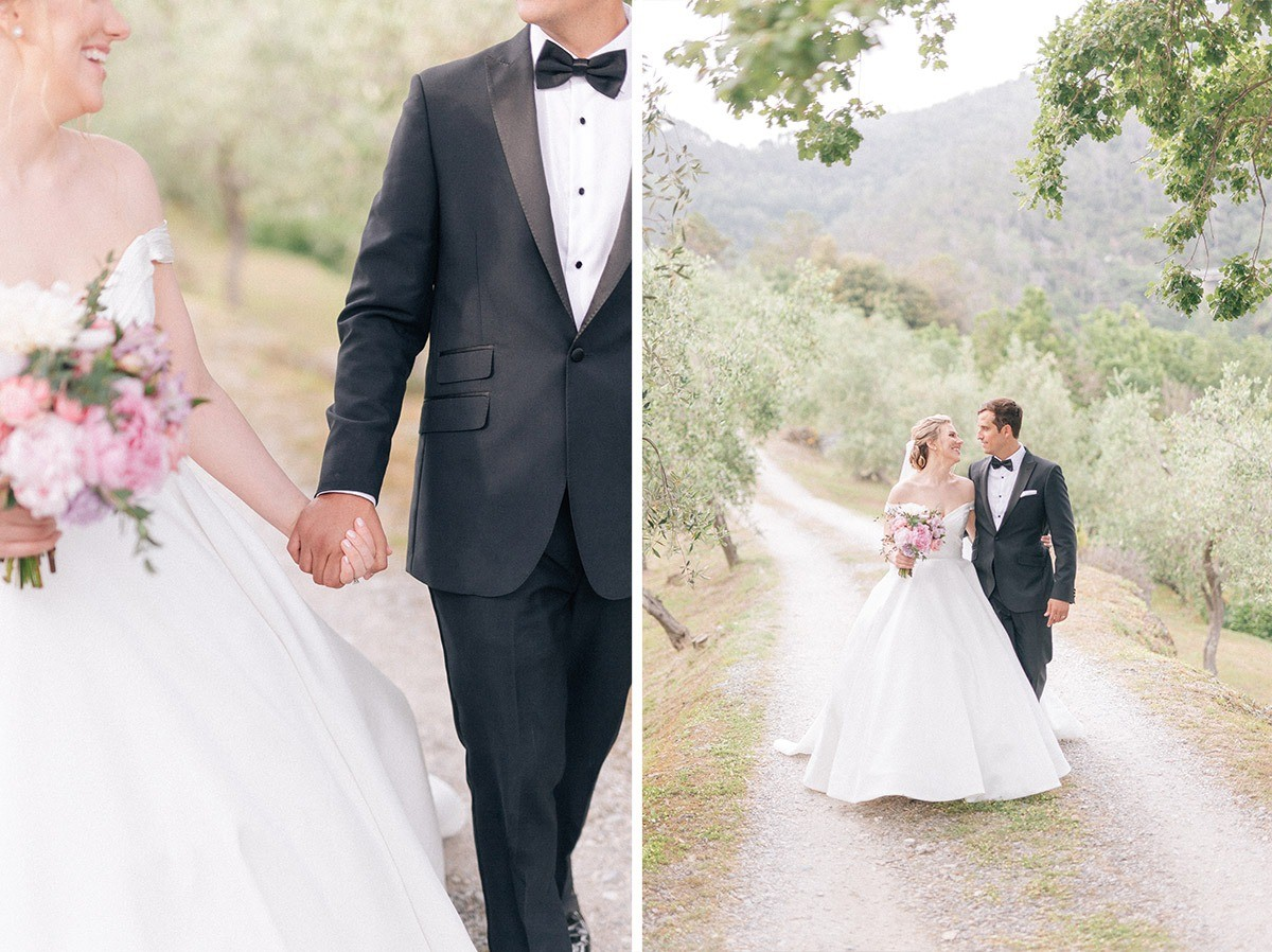 bride and groom photos in monterosso al mare in cinque terre