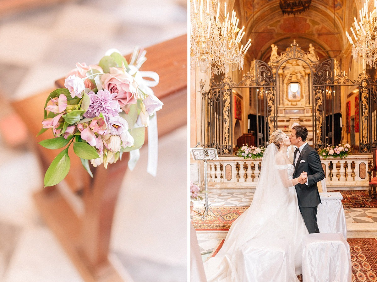 elegant religious  ceremony in sanctuary of soviore monterosso al mare