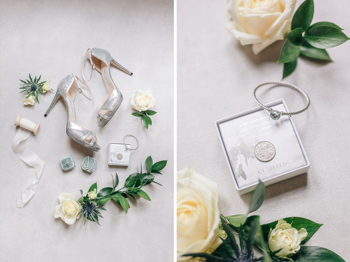 Bride's shoes and details